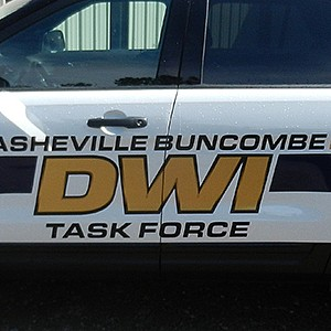 Asheville Police Department DWI Task Force Lettering