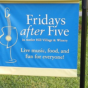 Biltmore Estate Antler Hill Village Friday After Five Event Signage
