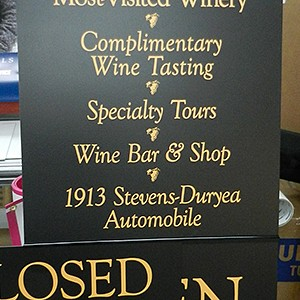 Biltmore Estate Winery Signage