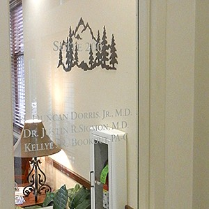 Dermatology Office Window Lettering