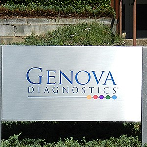 Genova Diagnostics Company Sign