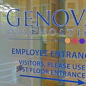 Genove Diagnostics Office Door Lettering