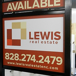 Lewis Real Estate Signage