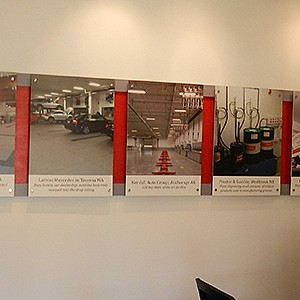 Mercedes-Benz Conference Room Display Signage