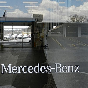 Merceds-Benz Dealership Door Lettering