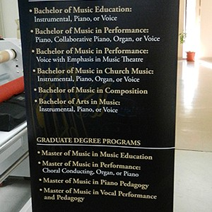 Mississippi College Department of Music Retractable Banners
