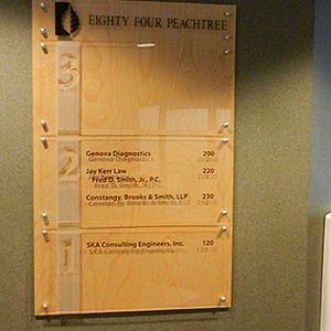 Office Building Directory Signage